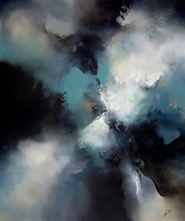 Darker Still by Simon Kenny - Original Painting on Box Canvas sized 39x47 inches. Available from Whitewall Galleries